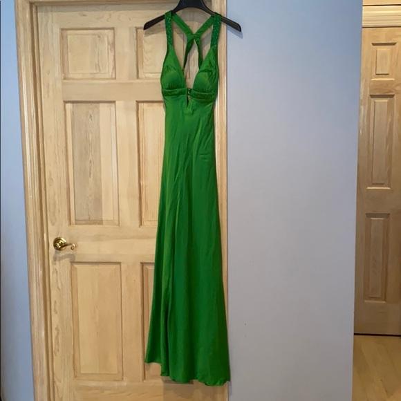 Aidan Mattox Dresses & Skirts - STUNNING Emerald grn beaded backless evening dress